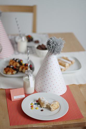 Nice Party: Cumpleaños infantil naranja y gris
