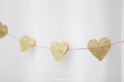 Guirnalda de corazones de purpurina San Valentin Nice Party shop