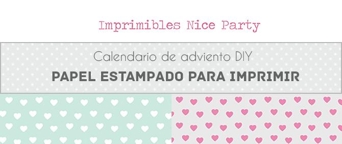 Papel para imprimir, Nice Party Calendario de adviento DIY