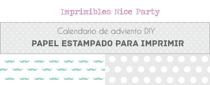 papel bigotes mint descargable Nice party