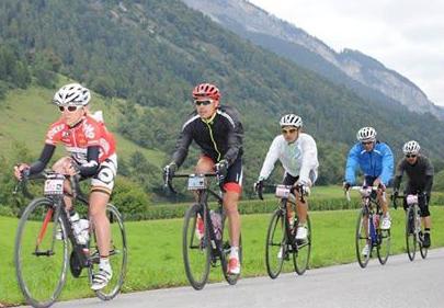 Avec Emma Pooley, Mathéo, Stephan et David