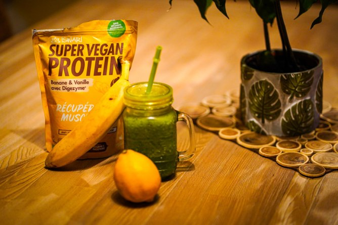 super vegan smoothie green splash