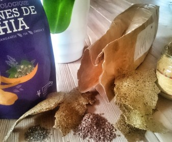 grain de chia iswari et crackers