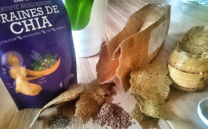 grain de chia iswari et crackers