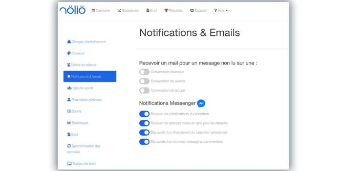 notification messenger mail nolio
