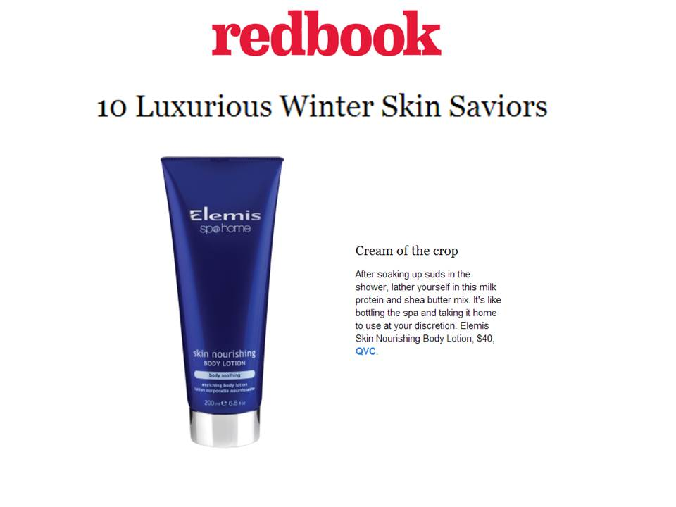 Elemis skin nourishing body lotion - Redbook.com - January 27, 2014