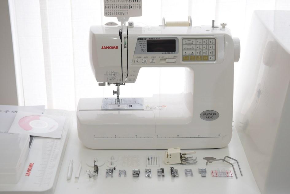 Janome A8000縫紉機-原廠配件集合