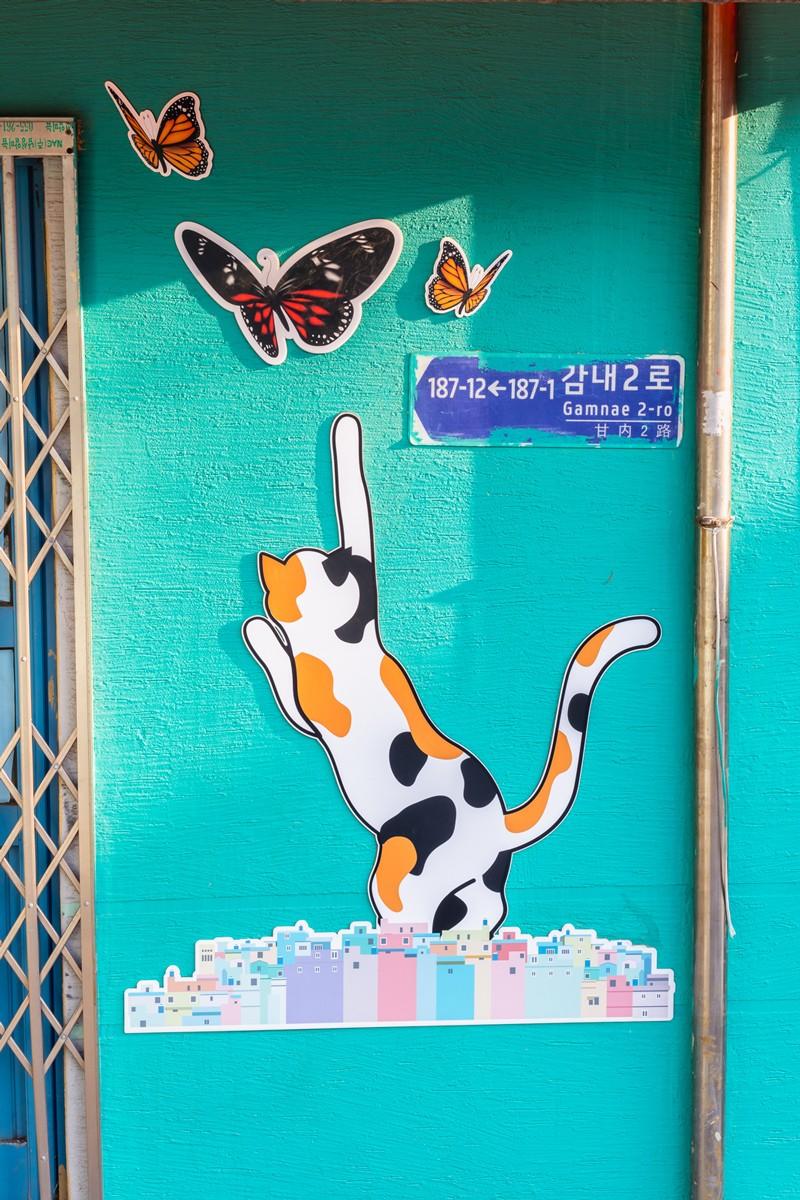 corée du sud, Gamcheon cultural village, busan, korea, visite korea, voyage, travel, decouverte, visite, street art, ninaah bulles