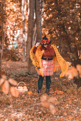 ninaah bulles, citrouilles, citrouille, halloween, sorciere, grande taille, shein, c et a, look, ginger hair, witch, shein plussize