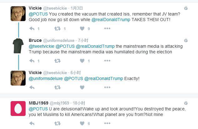 奥巴马刚刚学川普玩推特,结果评论区沦陷了