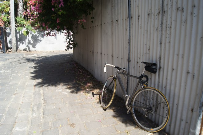My bicycle in a laneway