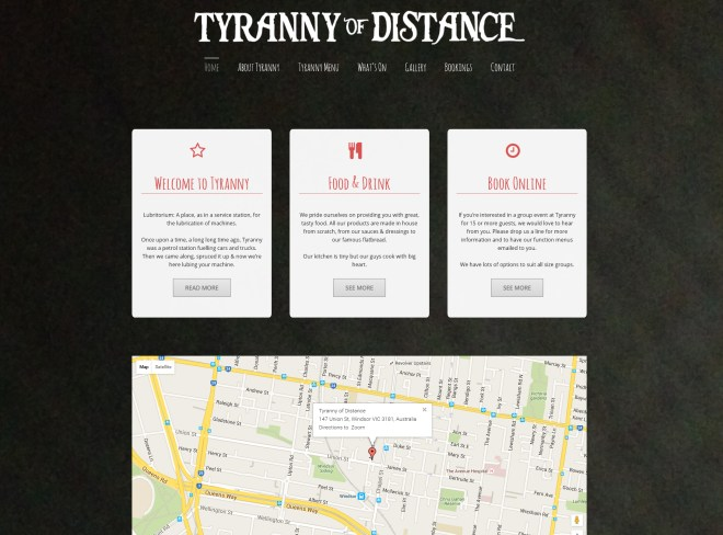 Tyranny of Distance