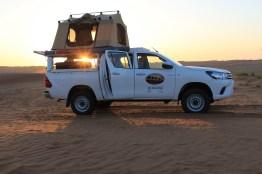 Oman Dachzelt 2016 Dachzelt aufgebaut Sonnenaufgang