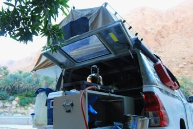 Oman Dachzelt 2016 Ausbau Kochstelle