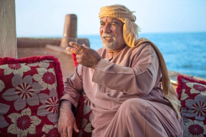 Oman: Dhowkapitaen in Musandam (copyright Bea Müller)