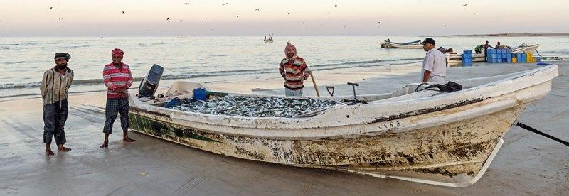 Oman Dhofar Fischer am Strand