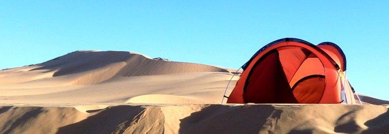 Einsames Zelt in der Sandwüste