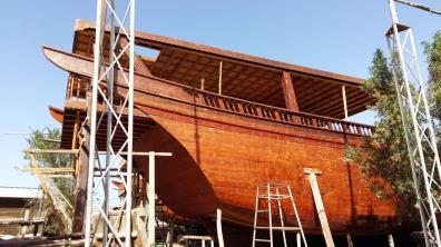 Bau einer traditionellen Dhau