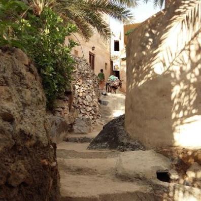 Auf dem Weg zum Gästehaus in Misfat Al Abryeen