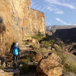 Einsames Wandern im Hajjar Gebirge