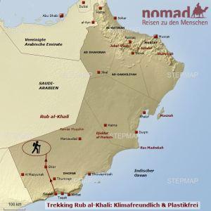Wandern in der Rub al-khali
