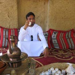 Reiseleiter Abdullah bei einer Kaffeepause