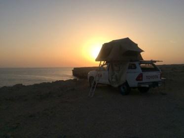 nomad Dachzelt bei Sonneuntergang