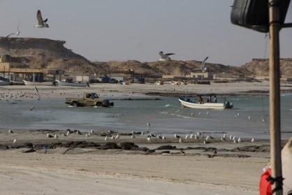 kleines Fischerdorf in Oman