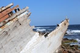 Schiffwrack an der Küste