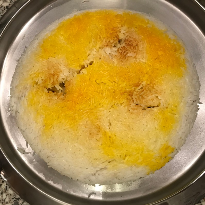 Fertiger Reis mit Kruste