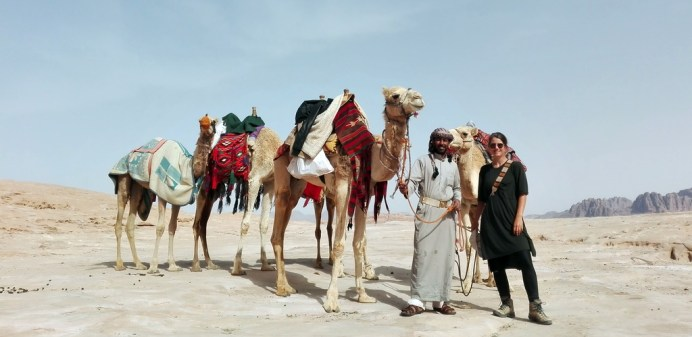 Im Wadi Rum mit Reiseleiter Ibrahim