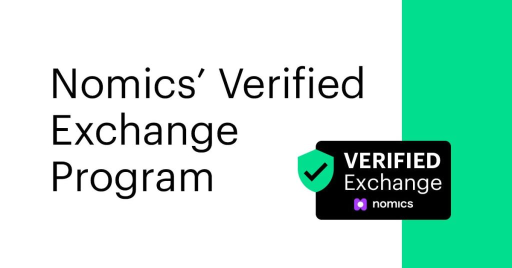Nomics A+ Verified Cryptocurrency Exchange Program