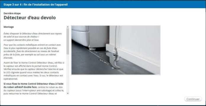 10-1 Test du détecteur d'eau de la gamme Home Control de chez Devolo
