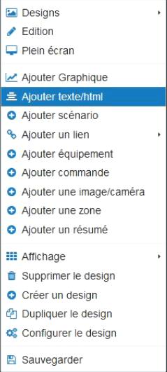 ajout-textehtml Présentation d'un menu css sous jeedom / nextdom