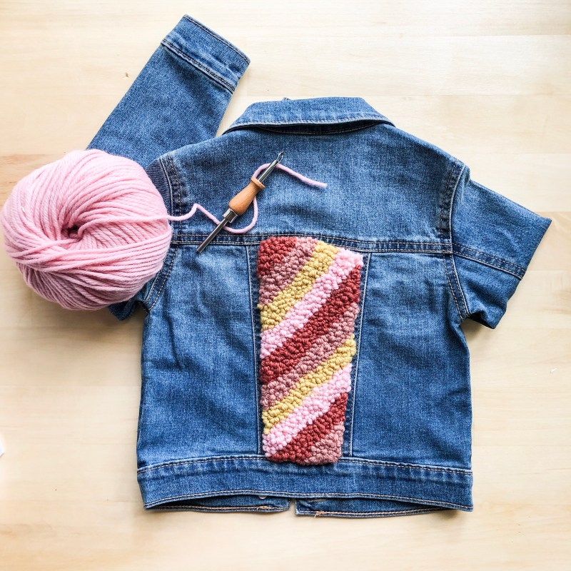 Punch needle iron on patch