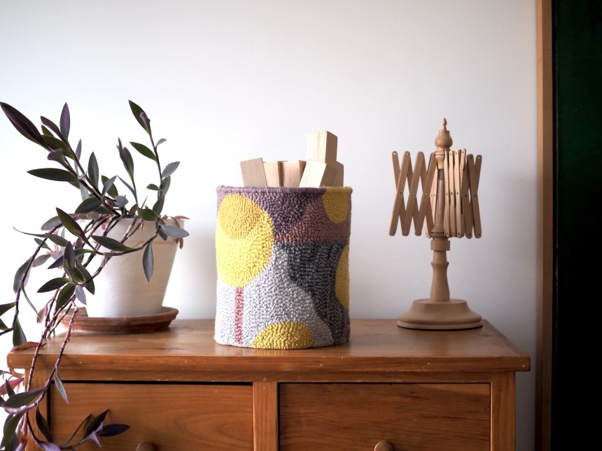 Punch Needle basket by Rose Pearlman