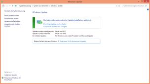 Alternativ zum Icon in der Taskleiste findet man in Windows Update den Hinweis zum Upgrade auf Windows 10.