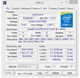 CPU Z - Prozessorinfo
