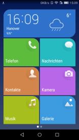 Huawei Y6: Einfacher Startbildschirm