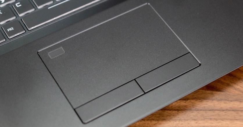 Touchpad mit integriertem Fingerabdruckscanner