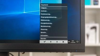 Natürlich könnt ihr den Monitor auch individuell einstellen
