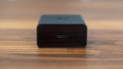 Das Schnellladegerät besitzt einen USB Typ C-Anschluss
