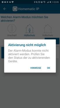 Homematic IP Starter Set Alarm App