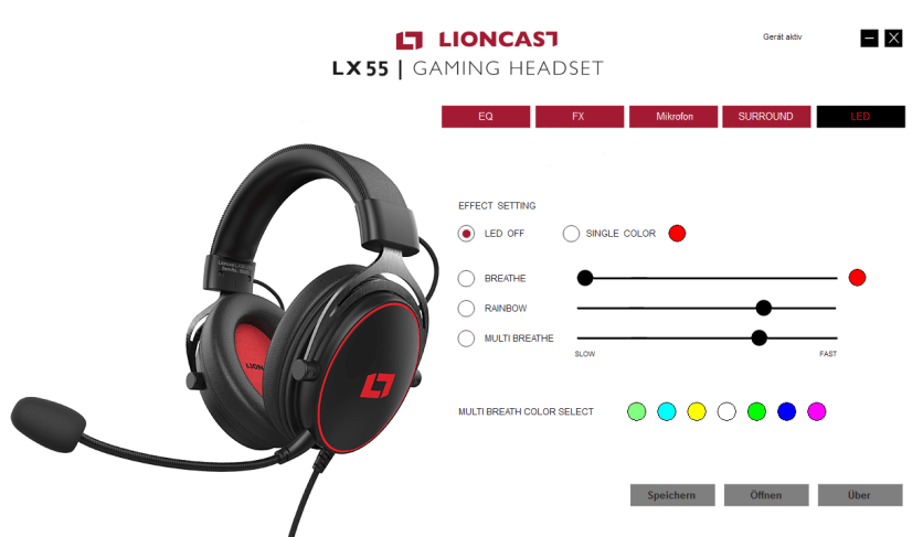 lioncast lx55 usb gaming headset software