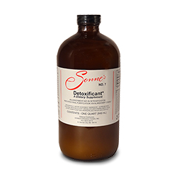 Picture of a bottle of Sonnes No. 7 Detoxificant, liquid bentonite clay for intestinal purification.