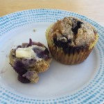 Grain-Free, Paleo Blueberry Almond Crumb Muffins