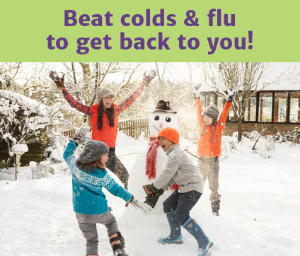 Beat colds & flu to get back to you!