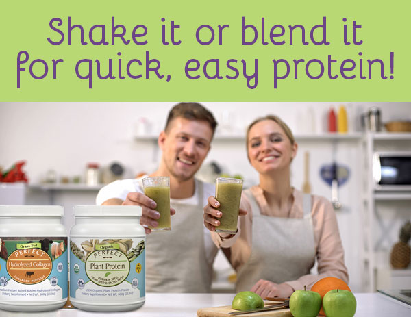 Shake it or blend it for quick easy protein!