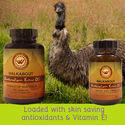 an image of emu oil, another great way to prevent sunburn from the inside out