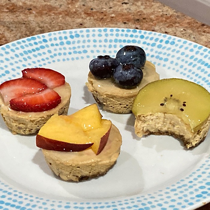 Cheesecake Fruit Tartlet —a delightful paleo and keto dessert for any BBQ
